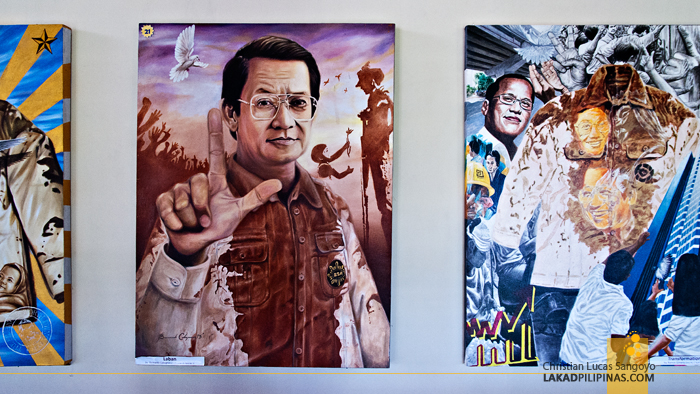 Paintings at the Aquino Center and Museum in Tarlac