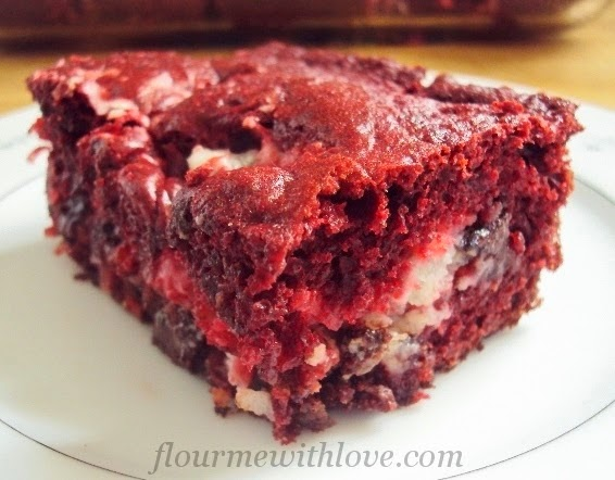 Flour Me with Love Red Velvet Earthquake Cake