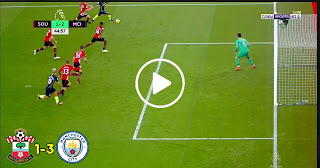 أهداف مباراة : ساوثهامبتون 1 – 3 مانشستر سيتي