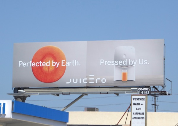 Juicero Pressed by us billboard