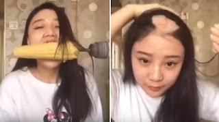 Mujer se volvió viral porque se arrancó el pelo mientras comía una mazorca.