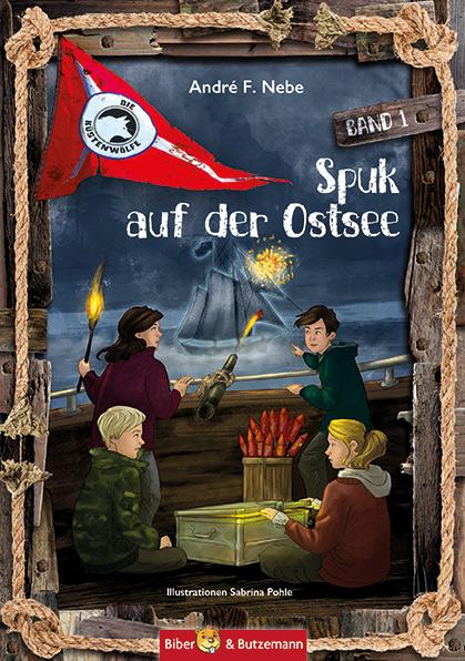 """Das Bücherboot: Kinderbücher aus dem Norden. Das Buch """"Spuk auf der Ostsee"""" spielt in Norddeutschland und verströmt maritimes Flair."""