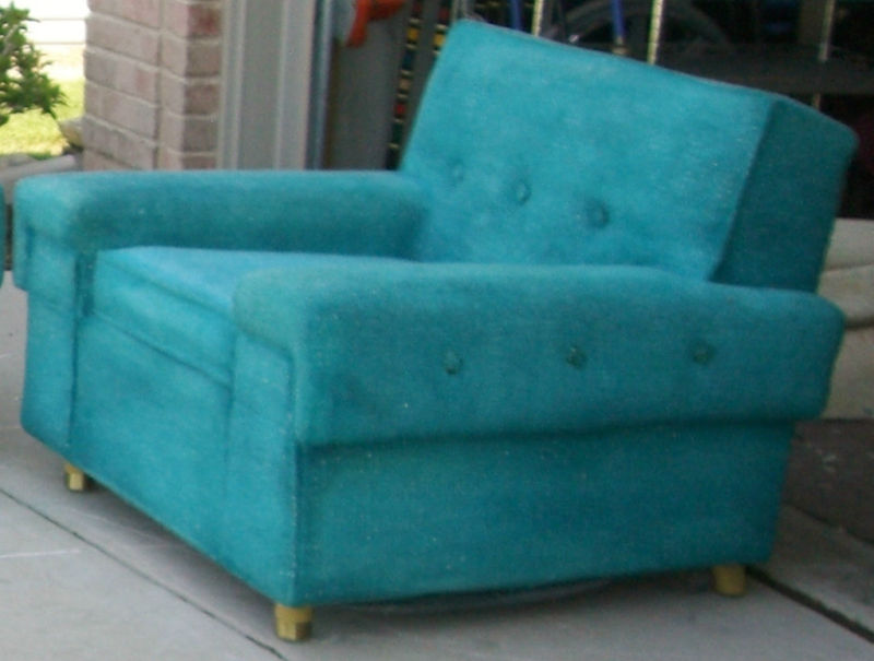 Mod About You Rare Find Mid Century Kroehler Turquoise Sofa And Chair 1956 900