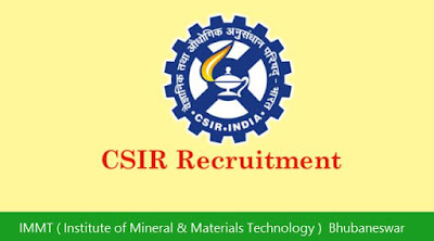 IMMT ( Institute of Mineral & Materials Technology )  Bhubaneswar Recruitment 2018