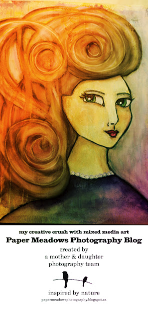 Paper Meadows Photography Blog-Editing a Mixed Media Girl from my Art Journal in Lightroom. PIN and tweet us!