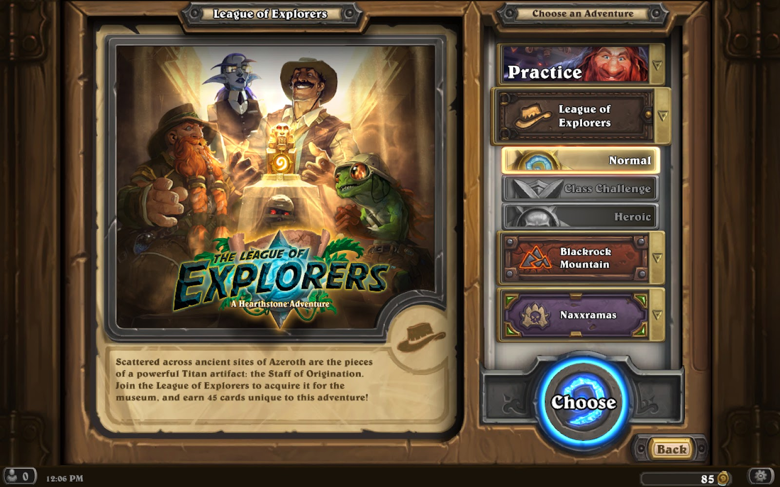 Hearthstone: The League of Explorers (2015) (Android/iOS