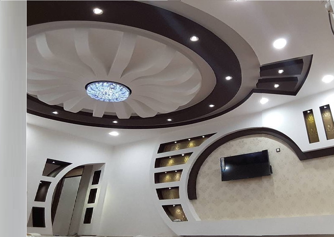 Latest pop design for hall 50 false ceiling designs for Living hall design ideas