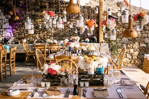 boda en playa de mykonos chicanddeco