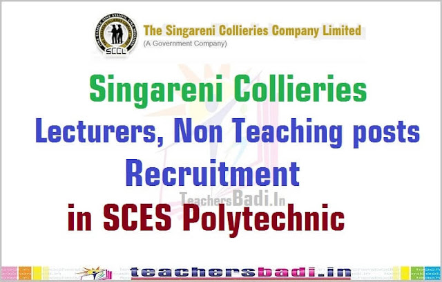 Singareni Collieries,Lecturers,Non Teaching posts,Polytechnics 2016