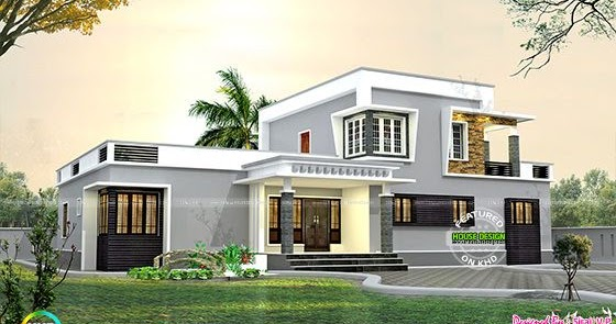 1800 Sq Ft Flat Roof Small Budget Home Kerala Home Design And Floor Plans