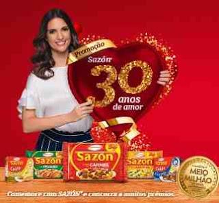 Cadastrar Promoção Sazon 2018 30 Anos Amor Participar Prêmios