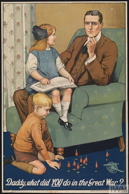 Poster producing to encourage recruitment,Imperial War Museum, Non-commercial Licence, © IWM (Art.IWM PST 0311)