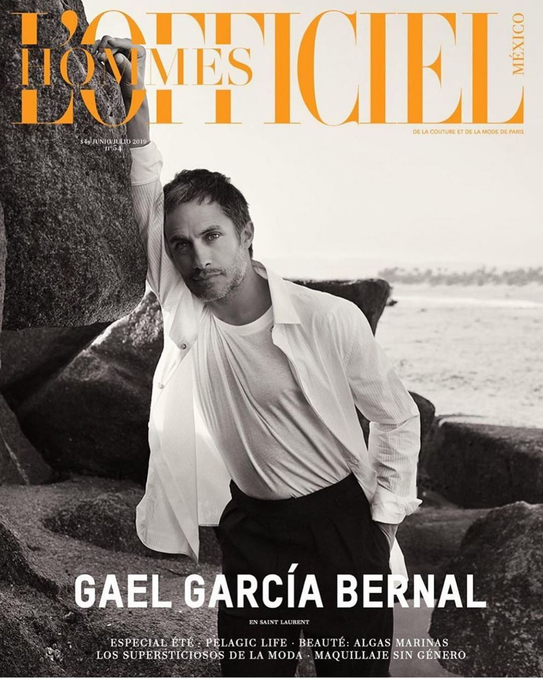 Gael García Bernal protagoniza el primer número de L'Officiel Hommes México