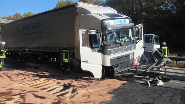A61: LKW Fahrer aus Mazedonien stirbt am Steuer