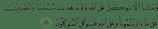 Surat Ibrahim Ayat 12