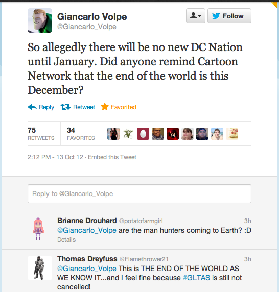 I wouldn't be surprised if Green Lantern ends up being Giancarlo Volpe's last project with Cartoon Network.