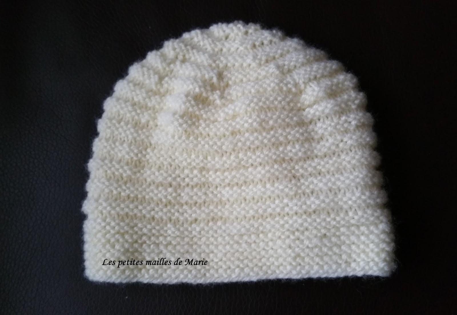 tricoter un bonnet en 3 5