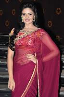 Srimukhi Glam pics in saree HeyAndhra