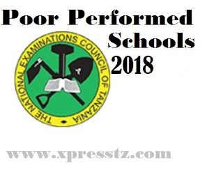 Top last:Poor performed Schools in 2018 ACSEE Results