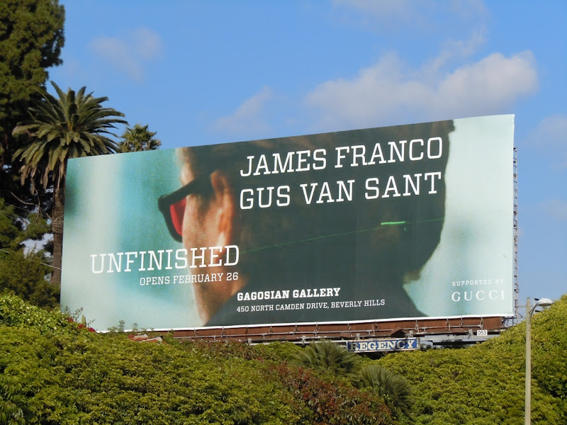 James Franco Unfinished billboard