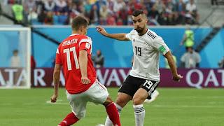 منتخب مصر يخسر من منتخب روسيا بنتيجة ٣-١ كاس العالم ٢٠١٨ في روسيا و تصبح مهمة الصعود للدور الثاني مستحيلة