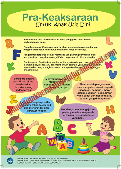 Penting Inilah Desain Poster Baner Booklet Kegiatan Paud Tk Anak