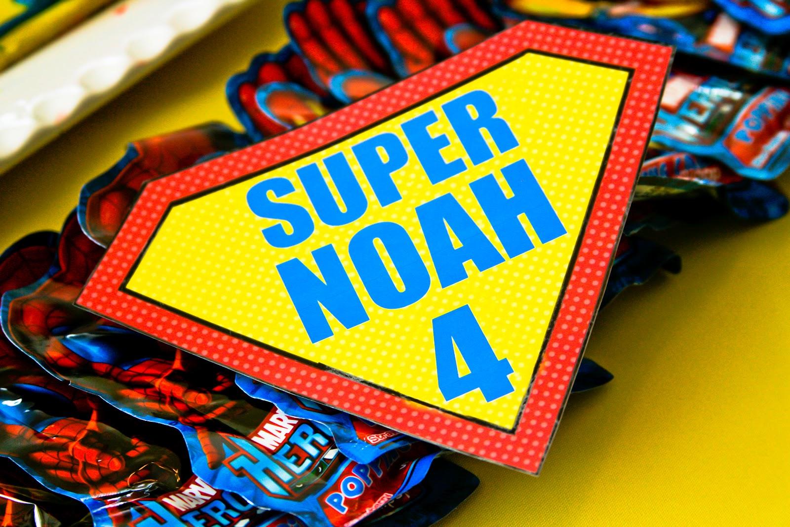 Choosing Joy Today: Super Noah's 4th Birthday Decorations