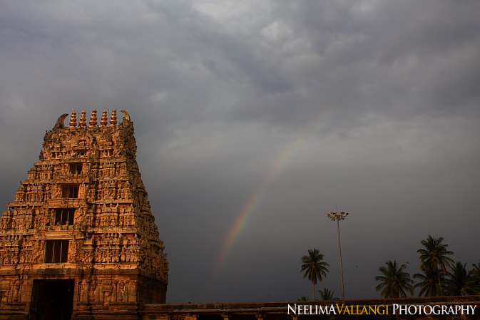 Rainbow by the temple