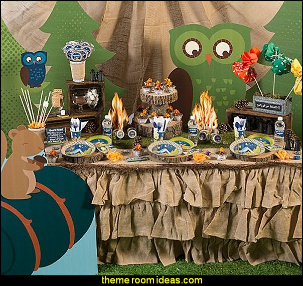 boys theme party ideas boys Camp Adventure Birthday Supplies decorating party themes