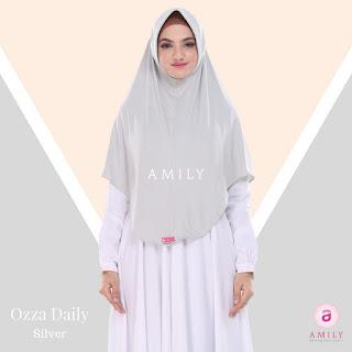 Hijab Amily Ozza Daily Silver