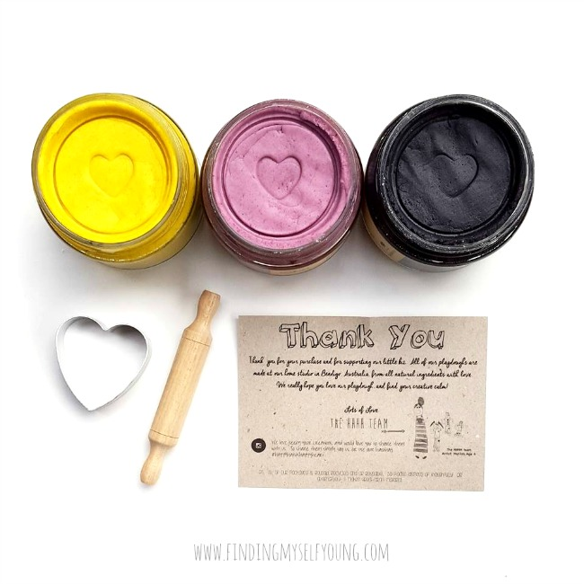 Happy Hands Happy Heart lemon, lavender and licorice scented playdough