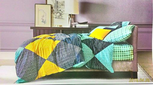 Sprei Katun Jepang motif Abstrak Kuning