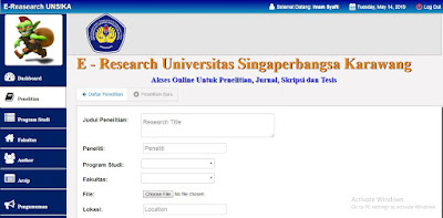 E-Research Digital Library Menggunakan PHP MySQL