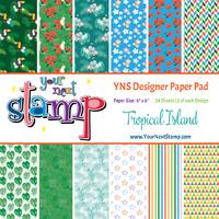 Designer Paper Pad - Tropical Island