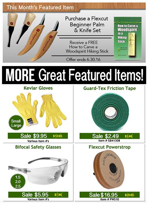 Save on Kevlar Gloves, Flexcut Powerstrop, Safety Glasses, Friction Tape