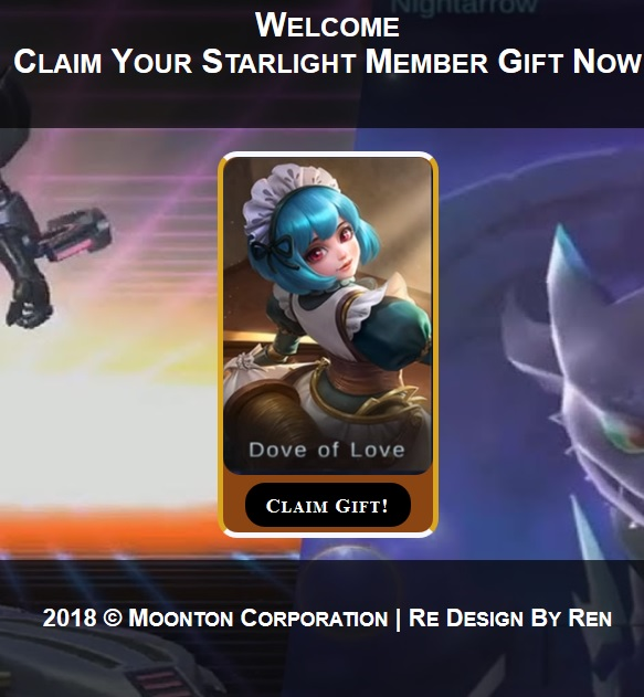 Script Phising Mobile Legends Claim Starlight Member Gift 2