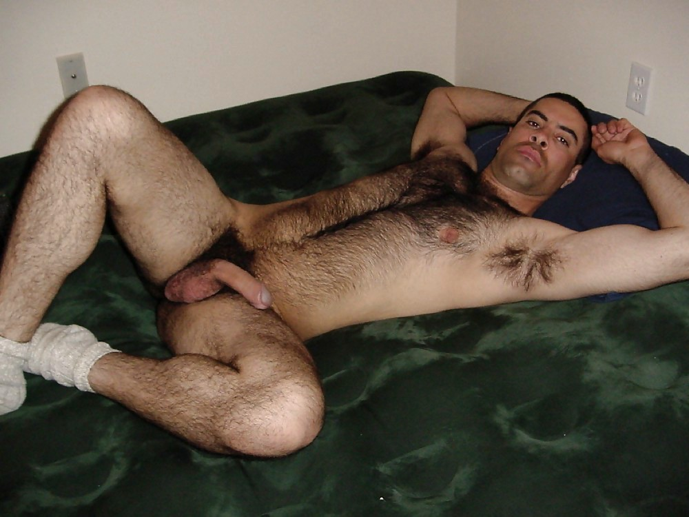 Young very hairy chested men