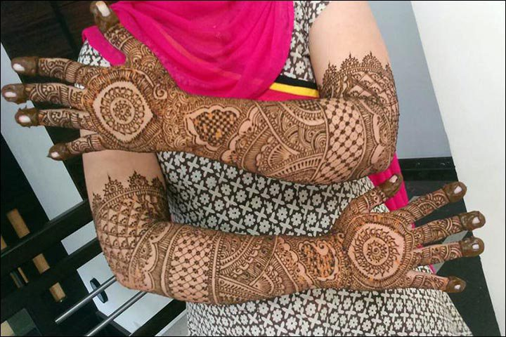 Mehndi Hand Image : Stylish bridal mehndi designs for full hands front and back