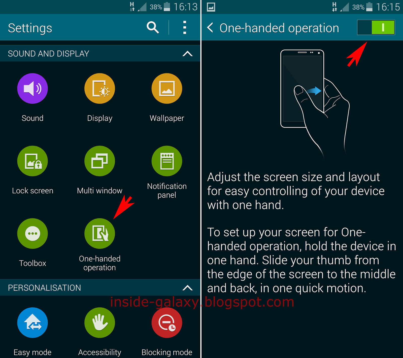 Samsung Galaxy S5: How to Enable and Use One-Handed