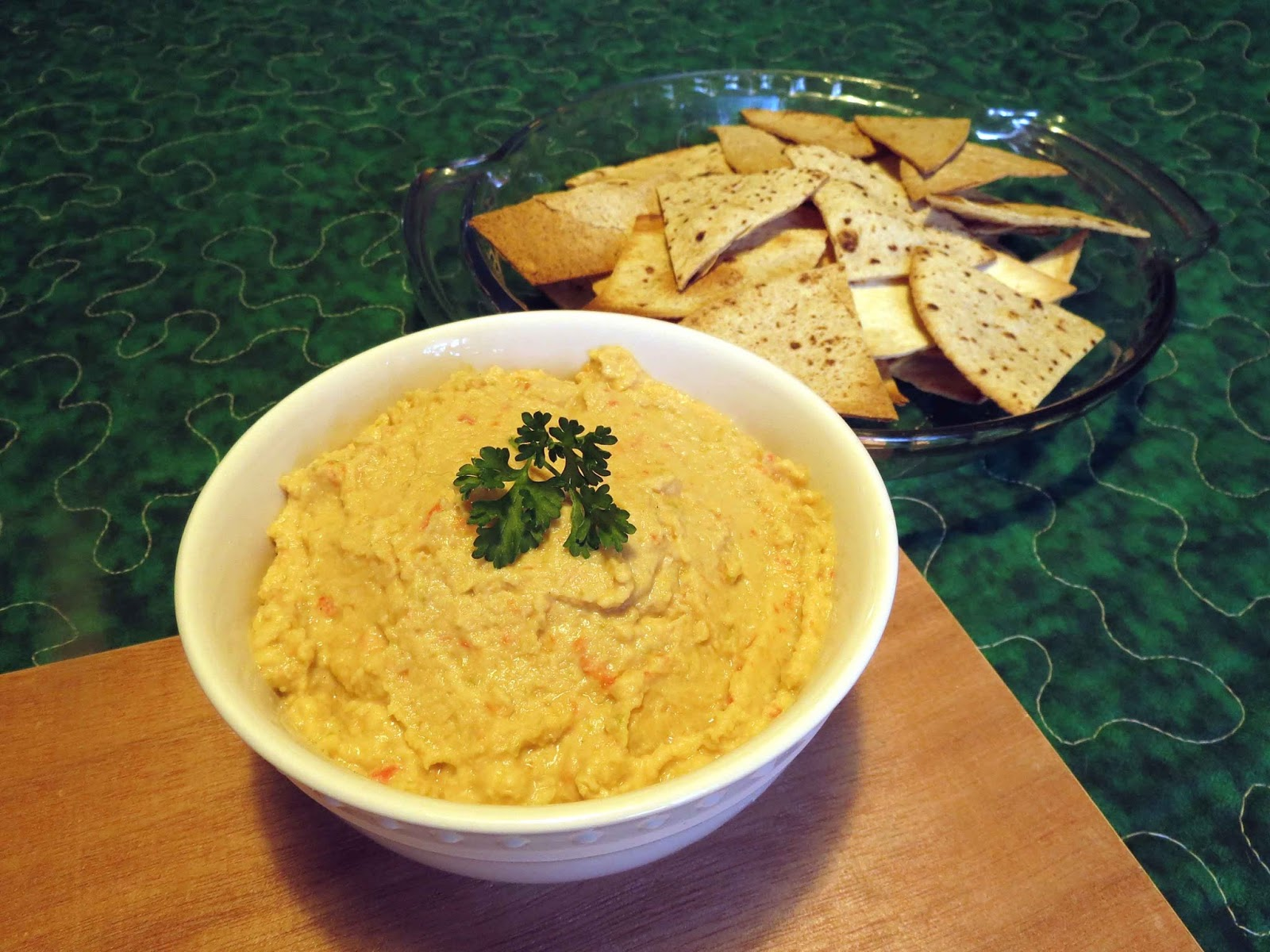hummus and tortilla chips