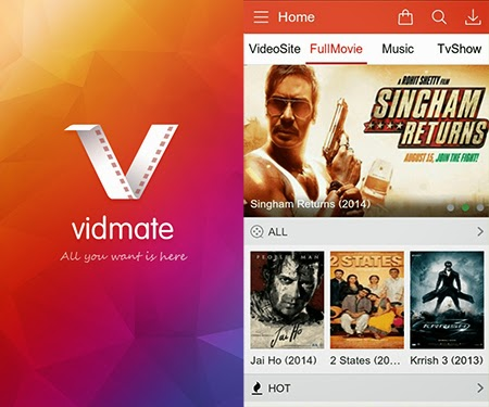 VidMate APK video downloader Latest 2015 Version for Android And Tablets.