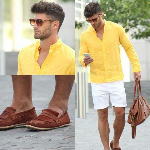 Look Masculino Amarelo verão