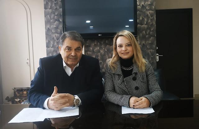 Η Κατερίνα Μιχαλοπούλου υποψήφια με τον Δημήτρη Καμπόσο (βίντεο)