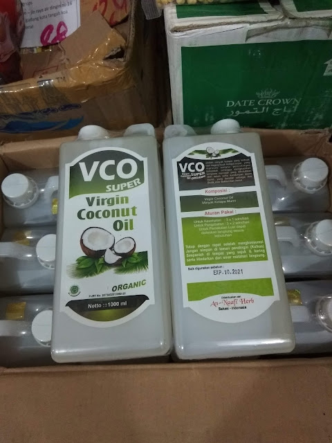 VCO Virgin Coconut Oil Super Organic An-Naafi Herb