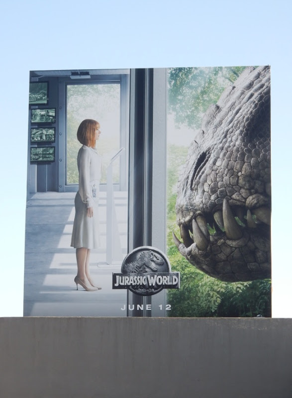 Jurassic World film billboard