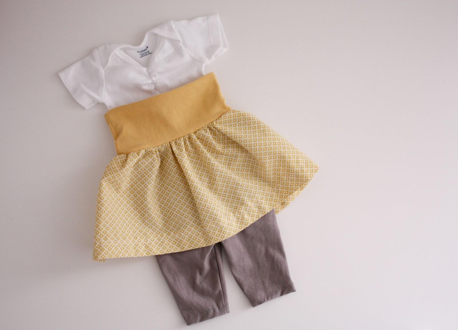 b355f3626e84 Nesting  Easy Baby Skirts