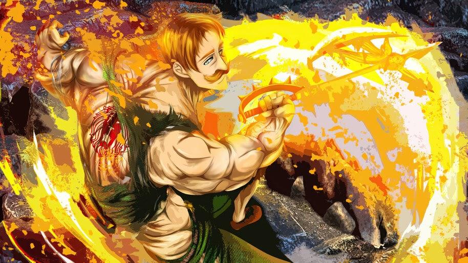 Escanor, Power, Divine Axe Rhitta, Nanatsu no Taizai, 4K, #7.1462
