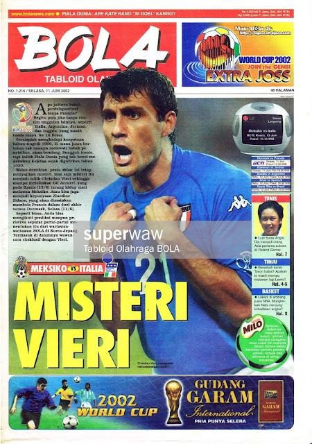 CHRISTIAN VIERI ITALY WORLD CUP 2002