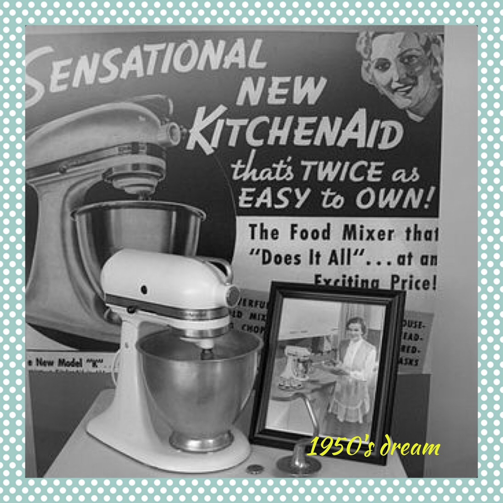 My Kitchen Has Ugly Bathroom Tile: Six Little Hearts: My KitchenAid Stand Mixer