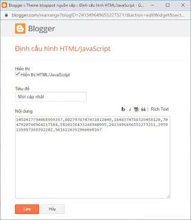 Cách tạo widget hiển thị bài viết của các blog khác nhau